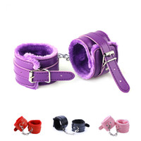 4 Colors Soft PU Leather Handcuffs Restraints Slave bdsm Bon...