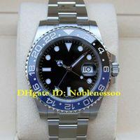 12 Style Classic Men's 40mm GMT II Batman Dial Black Dial Blue / Black Ceramic Bezel 116710blnr 116710 126715 126711 116718 Asia 2813 Guarda
