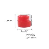 3ML 5ML silicona recipiente de silicona Cera containersNon-stick frascos de calidad alimentaria DAB titular aceite frasco de almacenamiento de herramientas para vaporizador