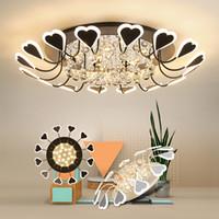 Modern led Tavan Işık Atmosfer Ev Oturma Odası Kristal Tavan Lambası Sıcak led Işık Tavan Romantik Kalp şeklinde Kristal Lamba