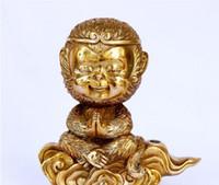 النقي النحاس الملك القرد الملك القرد فنغ شوي المفروشات المنزلية الإبداعية الديكور الحرف الحلي الصغيرة