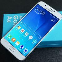 الهاتف الأصلي المجددة سامسونج غالاكسي A8 A8000 مقفلة الهاتف الخليوي ثماني النواة روم 16GB / 32GB 16.0MP 5.7 بوصة المزدوج سيم 4G LTE