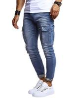 Jeans da uomo Mens Fashion Style Solid Color Takets Matita Desinger Zipper Homme Abbigliamento Casual Abbigliamento