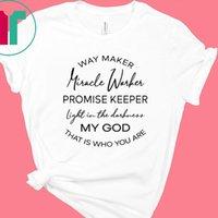 Yol Maker Miracle Warkes Tanrım Christian Tişört Streetwear Kadınlar Giyim Faith Grafik Tee Gömlek Plus Size Kadınlar Şükran CX200620
