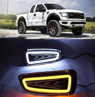 2pcs Para Ford Raptor F150 2009 2010 2011 2012 2013 2014 DRL Daytime Running luz de nevoeiro luz condução tampa da luz
