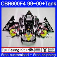 Karnın Siyah sarı kırmızı + Tankı Için HONDA CBR 600 F4 FS CBR 600F4 CBR600F4 99 00 287HM.30 CBR600FS CBR600 F 4 CBR600 F4 1999 2000 Kaporta kiti