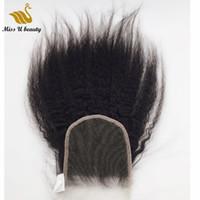 Человеческие кусочки волос kinky прямое кружевное закрытие 4x4 швейцарское прозрачное невидимое лечебное покрытие virginhair piece