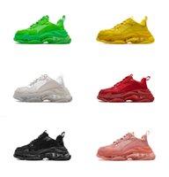 2019 Yüksek kalite Paris moda haftası gösterisi ayakkabı Çok sıcak moda sneakers Unisex rahat shoesjelly devlet taban spor ayakkabı Kadın Erkek Boyutu