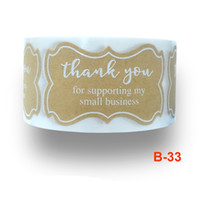 250pcs Thank You for Supporting My Small Business Sticker Br...