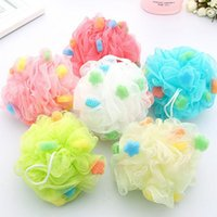30g Multicolor Bath Towel Scrubber Body Cleaning Utility Mes...