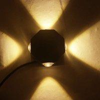 Edison2011 4W Современные светодиодные настенные светильники восьмигранный алюминиевый светодиодный потолочный светильник для домашнего освещения интерьера КТВ / бар украшения Настенный светильник