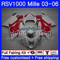 Karosserie Für Aprilia RSV 1000R 1000 RV60 Mille Rotes weißes Licht 2003 2004 2005 2006 316HM.35 RSV1000RR RSV1000R RSV1000 R RR 03 04 05 06 Verkleidungen