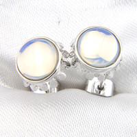 10 pairs   Lot LuckyShine 925 Silver Women Rainbow Moon Stud Earrings Classic Retro Stud Earrings Free Shipping Jewelry E0246