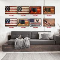 bandera de EE.UU. Carteles de chapa de metal Clásicos Antiguo pared del metal placa del club hogar de la pared del metal del arte del hierro Pintura pared del arte en Imagen