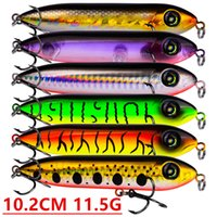 Mixed 6 Color 10. 2cm 11. 5g Popper Fishing Hooks Fishhooks 4#...