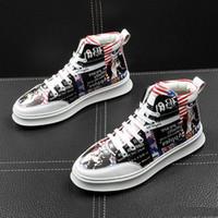 Vendita calda-scarpa Bandiera americana Scarpe causali Scarpe da ballo per ritorno a casa Sneaker da uomo Uomo Scarpe alte da uomo Rock Top hip hop