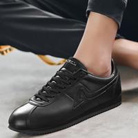 2020 G.N.SHIJIA zapatos de moda de cuero de vaca de calidad de microfibra de goma EVA inferior Blanco Rojo 88 zapatos corrientes de la zapatilla de deporte
