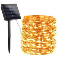 200 الصمام مصباح المصابيح الشمسية في الهواء الطلق أضواء سلسلة الجنية عطلة عيد الميلاد حزب جارلاند الطاقة الشمسية أضواء للماء