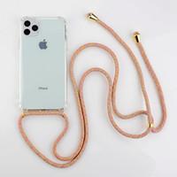 أزياء شفافة TPU الهواء وسادة الهاتف الخليوي صدمات حالة الهاتف غطاء لفون 13 12 11 برو X XR XS ماكس 8 7 6 زائد مع الرقبة حبال حبل المحمولة