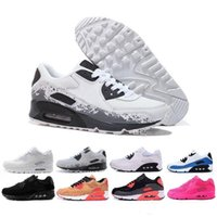 Nike Air Max 90 Flyknit Laufschuhe Be True Mixtape Triple Black White Men Frauen Klassisch Gelb Rot Sport Trainer Kissen Surface36-45