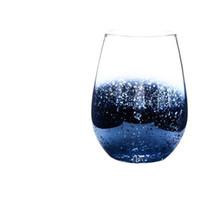 20 onças sem chumbo Cristal Egg vinho copo de vidro Tumbler Modern Grande Capacidade Ion banhado Arco-íris transparente Household Sala Craft EEA1290-8