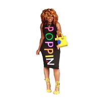2019 neue mode sexy silm brief poppin sleeveless bodycon dress für frauen kleider j190614