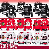 2019 homens 19 Jonathan Toovs 88 Patrick Kane Chicago Blackhawks Jersey 2 Duncan Keith 14 Richard Panik 20 Brandon Saad 50 Corey Crawford Hossa