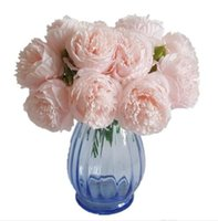 5 Heads 1 Bunch European Artificial Flower Fake Peony Bridal Bouquet Christmas Wedding Party Home Decorative Silk Peony GB225