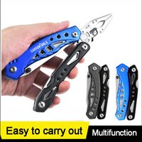 No transporte livre estoque Multifuncional Alicates Multitool faca Camping Escalada ferramentas Survival Ferramenta de vidro BreakerOutdoor