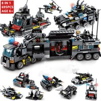 8pcs / lot 695pcs City Police Swat Building Blocks Compatible Legoinglys City Blocks Technic Bricks Playmobil Juguetes para niñosMX190820