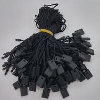 """7 """"Garment Hang Tag String Black 1000 pezzi Black Hang Tag Cavo di nylon per il prezzo"""