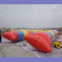 نفخ النقطة المياه القفز وسادة 5x2m PVC المياه البلوز وسادة هوائية لعبة نفخ الترامبولين ألعاب الماء مضخة شحن مجاني مجاني
