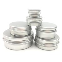 50pcs muito 5g 10g 15g 20g 30g 40g 50g 60g de alumínio Jars Esvaziar maquiagem cosméticos Creme Lip Gloss Metal Alumínio Tin Containers