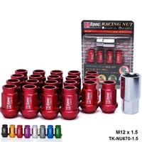 D1 사양 JDM 레이싱 휠 LUG NUTS M12 X 1.5MM 20PCS HONDA CIVIC ACURA INTEGRA FORD TK-NU670-1.5 용
