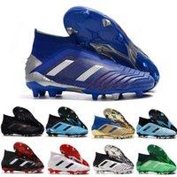 Yeni Ucuz Erkek Predator Mania Hızlı Boyutu 39-45 Nakliye 19.1 19+ FG Futbol Boots Yüksek Kalite Siyah Beyaz Kırmızı Futbol Profilli Ayakkabı