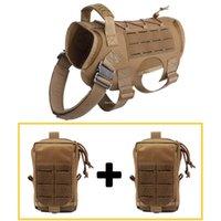 Ajustável Dog Tactical Vest Molle roupas para cachorros Set Hunting Harness Exército Nylon Serviço de Formação Vest Harness