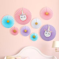 Birthday Party Decoration Hot Stamping Paper Fan Hanging Dec...