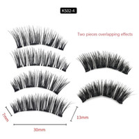 KS02- 4 Magnetic eyelashes with 4 magnets handmade 6D magneti...