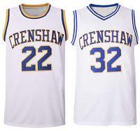 미국 Quincy McCall # 22 Monica Wright Basketball Jersey # 32 Crenshaw Love and Movie Stitched S-3XL 고품질