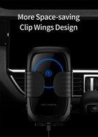 Yüksek Kaliteli Otomatik Kilitleme Temperli Cam Kablosuz Şarj Qi Standart Çoklu Güvenlik Koruma Araba Telefon Kablosuz Şarj