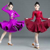 무대 착용 라틴 댄스 드레스 소녀 전문 어린이 경연 드레스 rumba 차마 살사 탱고 춤 의류 DN5217