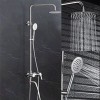 Mirror Cold And Hot Shower Set 304 Stainless Steel Column Ro...