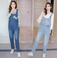 2019 Spring and Summer Maternity Overalls Bib Jumpsuits Clot...