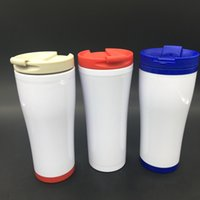 Оптовые 450мл BPA Free двойной стены Пластиковых вод массажер Экология Чашка портативной для путешествий