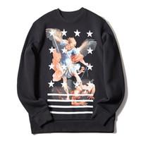 패션 남성 까마귀 높은 품질의 힙합 긴 소매 후드 티 패션 남성 여성 운동복 블랙 S-XL
