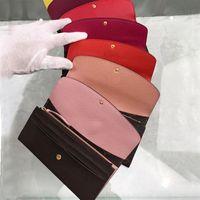 Wholesale klassische Standardmappenart und weiseleder lange Geldbörse moneybag Reißverschlusstasche Mehrfarbenmünzentasche Datumscodeanmerkungsfachkupplung