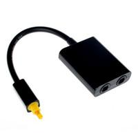 Câble audio de fibre optique optique de toslink numérique de 100 pcs 1 mâle à 2 femelle adaptateur de séparateur de toslink 18cm noir blanc pour lecteur DVD CD