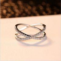 Классические ювелирные изделия Handamde способа реальная 100% стерлингового серебра 925 Cute 5A Цирконий Eternity кольцо Свадьба обручальное кольцо диапазона Set
