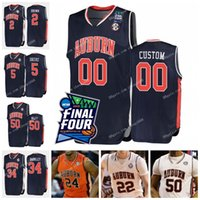 Benutzerdefinierte Auburn College Basketball 2019 Final Four Jersey 2 Bryce Brown 1 Jared Harper 5 Chuma Okeke genäht beliebige Namen