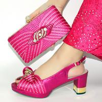 Afrikanische Schuhe und Beutel zum Match-Satz-Qualitäts-Frauen Schuhe und Tasche Sets italienische Schuhe und Tasche Set für Partei !! JN1-36